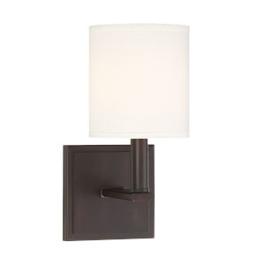 York English Bronze One-Light Wall Sconce