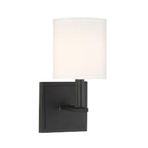 York Matte Black One-Light Wall Sconce