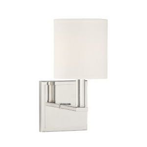 York Polished Nickel One-Light Wall Sconce