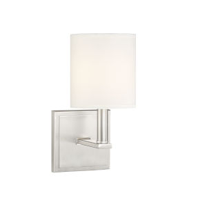 York Satin Nickel One-Light Wall Sconce