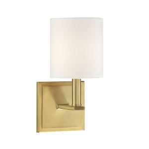 York Warm Brass One-Light Wall Sconce
