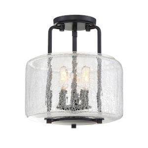 Ava English Bronze Three-Light Semi-Flush Mount