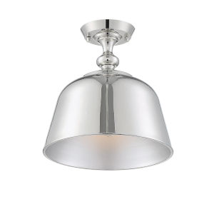 Kate Polished Nickel One-Light Semi-Flush Mount