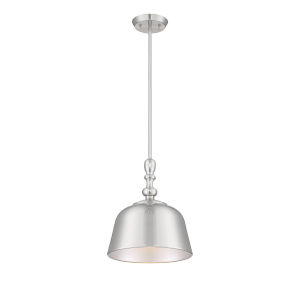 Kate Satin Nickel One-Light Pendant