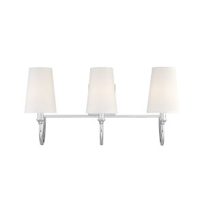 Anna Polished Nickel Three-Light Bath Vanity