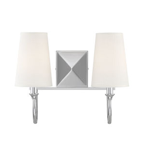 Anna Polished Nickel Two-Light Bath Vanity