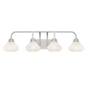 Eloise Satin Nickel Four-Light Bath Vanity