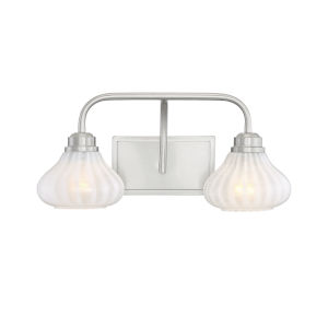 Eloise Satin Nickel Two-Light Bath Vanity
