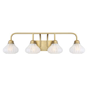 Eloise Warm Brass Four-Light Bath Vanity