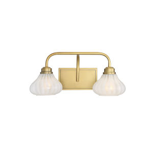 Eloise Warm Brass Two-Light Bath Vanity