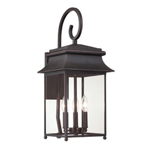 Elle Slate Three-Light Outdoor Wall Sconce