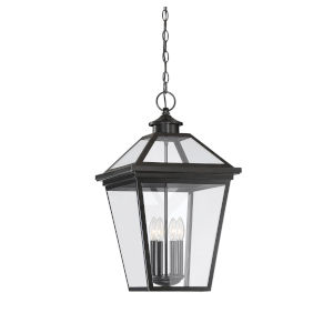 Elle English Bronze 14-Inch Four-Light Outdoor Pendant