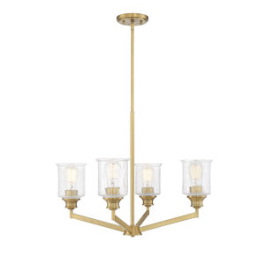 Isles Warm Brass Four-Light Chandelier