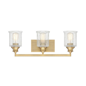Isles Warm Brass Three-Light Bath Vanity