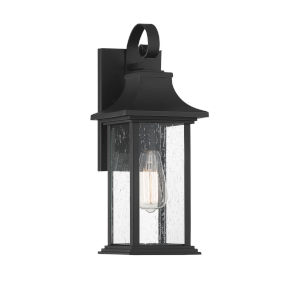 Elle Matte Black One-Light Outdoor Wall Sconce