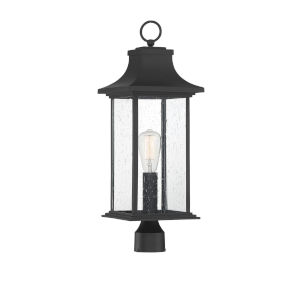 Elle Matte Black One-Light Outdoor Post Mount