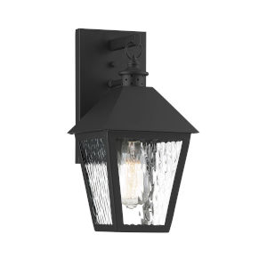 Elle Matte Black 7-Inch One-Light Outdoor Wall Sconce