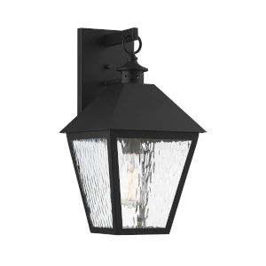 Elle Matte Black 9-Inch One-Light Outdoor Wall Sconce