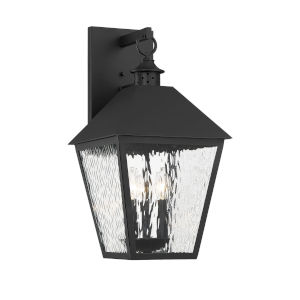Elle Matte Black 11-Inch Three-Light Outdoor Wall Sconce