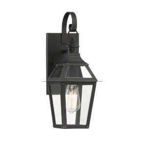 Elle Black and Gold 7-Inch One-Light Outdoor Wall Sconce