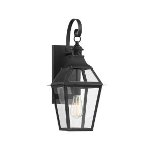 Elle Black and Gold 9-Inch One-Light Outdoor Wall Sconce