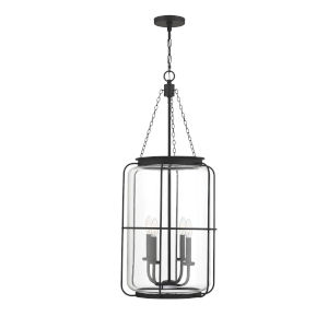 Elle Matte Black Four-Light Pendant