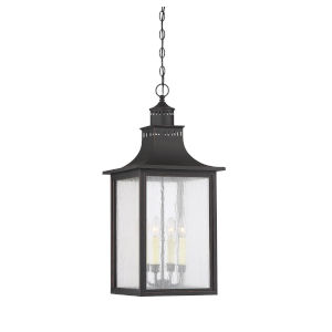 Elle English Bronze 13-Inch Four-Light Outdoor Pendant