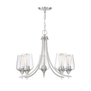 Selby Satin Nickel Five-Light Chandelier