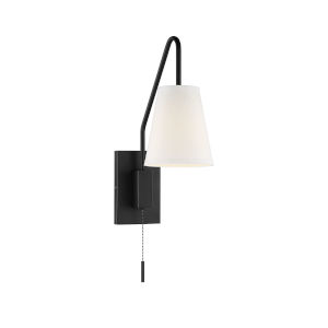 Whittier Matte Black One-Light Wall Sconce