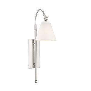 Whittier Polished Nickel One-Light Wall Sconce