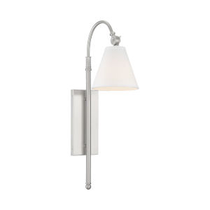 Whittier Satin Nickel One-Light Wall Sconce