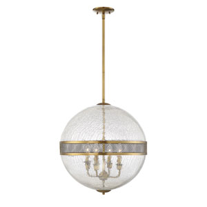 Linden Warm Brass Four-Light Pendant
