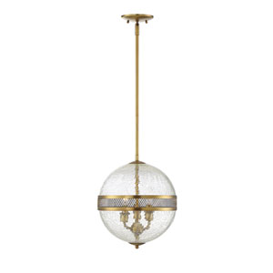 Linden Warm Brass Three-Light Pendant