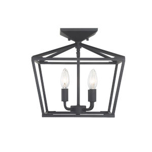 Kenwood Matte Black Four-Light Semi-Flush Mount