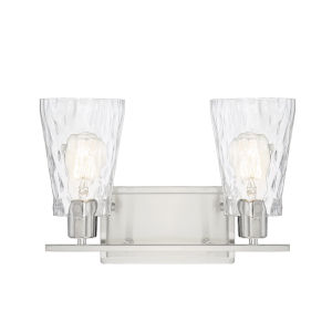 Nora Satin Nickel Two-Light Bath Vanity