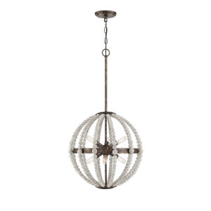Sophia Avignon White Six-Light Pendant