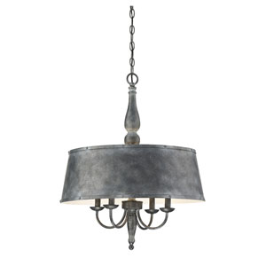 Sophia Farmhouse Tin Four-Light Chandelier