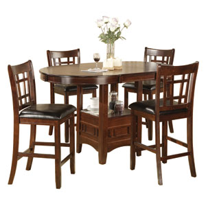 Selby Espresso and Black Dining Set, 5-Piece
