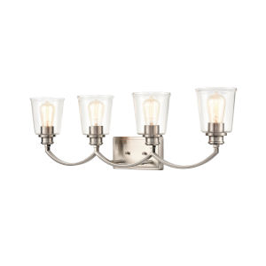 Ava Brushed Nickel Four-Light Bath Vanity