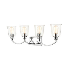 Ava Chrome Four-Light Bath Vanity