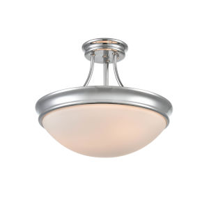 Anna Chrome Three-Light Semi-Flush Mount