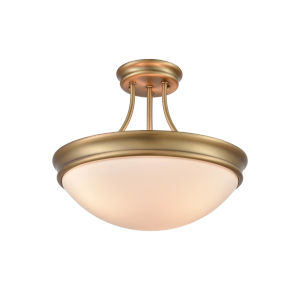 Anna Heirloom Bronze 14-Inch Three-Light Semi-Flush Mount