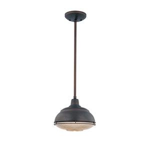Lex Rubbed Bronze One-Light Outdoor Pendant