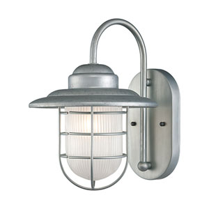 Lex Galvanized One-Light Outdoor Wall Sconce