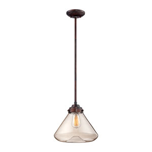 Lex Rubbed Bronze One-Light Pendant