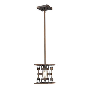 Cora Rubbed Bronze One-Light Pendant