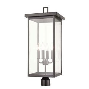 Castor Powder Coat Bronze Four-Light Outdoor Post Lantern