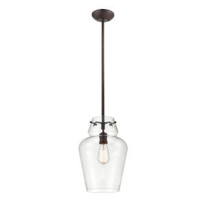 York Rubbed Bronze One-Light Pendant