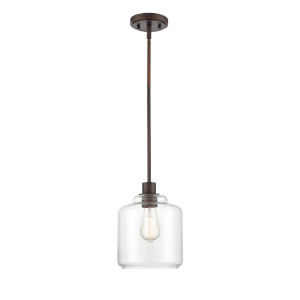 York Rubbed Bronze One-Light Mini Pendant
