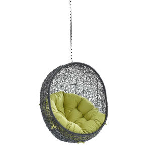 Darren Black and Peridot Swing Outdoor Lounge Chair Without Stand